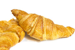 Croisant isolated on white bakground Stock Photography