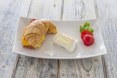 Croisant sandwich Stock Photos