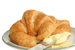 Croisants closeup Royalty Free Stock Photography
