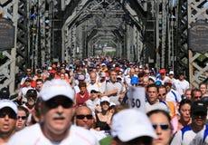 Croisement Alexandra de marathon photographie stock