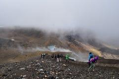 Croisement alpestre de Tongariro Image libre de droits