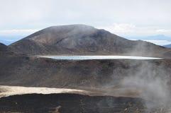 Croisement alpestre de Tongariro Photos libres de droits