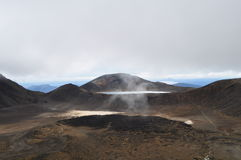 Croisement alpestre de Tongariro Photos stock