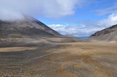 Croisement alpestre de Tongariro Images stock