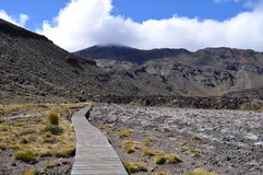 Croisement alpestre de Tongariro Photo stock