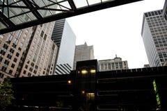 Croisement Amérique, Chicago, une ville incluse en brouillard photo stock