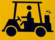 Croisement de chariot de golf Images stock