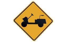 Croisement de chariot de golfeur Image stock