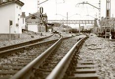 Croisement de chemin de fer Photo stock