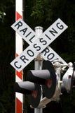 Croisement de chemin de fer Images libres de droits