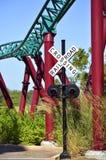 Croisement de chemin de fer en jardins Tampa de Busch Photo stock