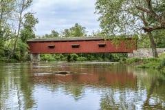 Croisement de crique de moulin - cataracte, Indiana photos libres de droits