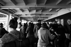 Croisement de ferry-boat d'Amsterdam photos libres de droits