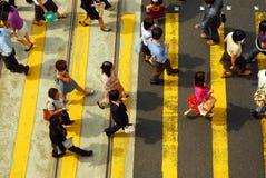 Croisement de foule Images libres de droits