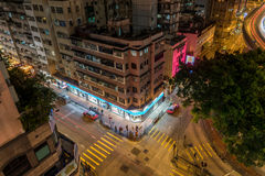 Croisement de Hong Kong Downtown Images libres de droits