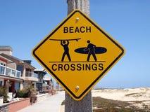 Croisement de plage de la Californie Photographie stock