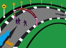 Croisement de route Images libres de droits