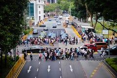 Croisement de route serré Photos libres de droits