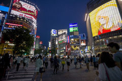 Croisement de Shibuya Photos libres de droits
