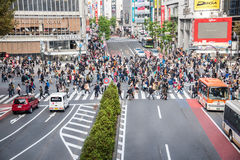 Croisement de Shibuya photo libre de droits
