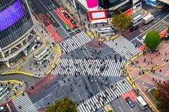 Croisement de Shibuya, Tokyo, Japon Photographie stock libre de droits