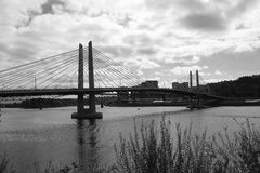 Croisement de Tilikum - Portland, Orégon Images libres de droits