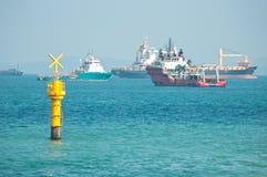 Croisement de trafic maritime images stock