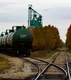 Croisement de trains Photo stock