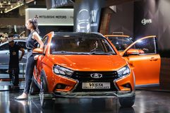 Croisement Lada Vesta Cross Concept Photographie stock libre de droits