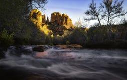 Croisement rouge de roche, Sedona, Arizona Images libres de droits