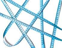 Croisements de mesure bleus de bande d'isolement Image libre de droits