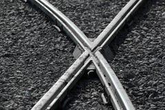 Croisements de rail comme fond de transport photo libre de droits
