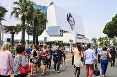 Croisette在戛纳,法国,在加州的68编辑时 免版税图库摄影