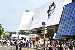 Croisette在戛纳,法国,在加州的68编辑时 库存图片