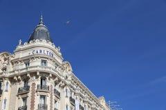 Croisette的洲际的卡尔顿戛纳 免版税库存图片