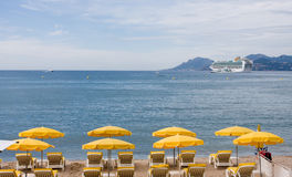 Croisette beach Cannes Stock Image