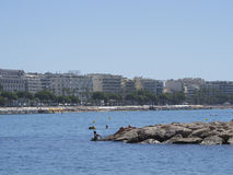 Croisette beach in Cannes, France Royalty Free Stock Image