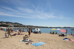 Croisette beach in Cannes, France Royalty Free Stock Photography