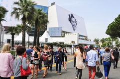 The Croisette in Cannes, France, during the 68 edition of the Ca Royalty Free Stock Photography