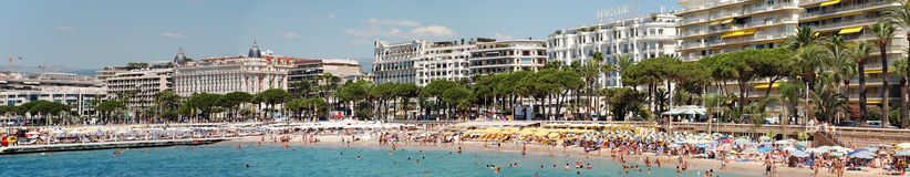 The croisette in Cannes Royalty Free Stock Photos