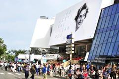 Croisette in Cannes, Frankrijk, tijdens uitgave 68 van Ca Stock Afbeelding
