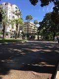 Croisette van Cannes op Franse rivera royalty-vrije stock afbeelding