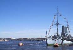 Croiseur de l'aurore Image libre de droits