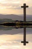 croisez le coucher du soleil Photo libre de droits