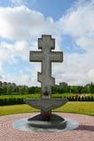 Croisez sur le territoire de Pokrovo- Nicholas Church, Klaipeda, Lithua Photographie stock libre de droits