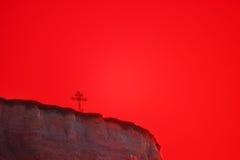 Croisez sur une montagne Image libre de droits