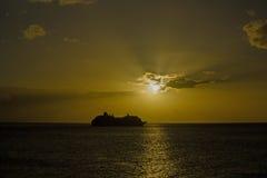 Croisière au coucher du soleil Photographie stock