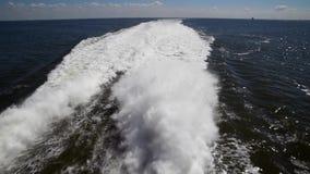 Croisi?re dans un catamaran rapide banque de vidéos