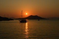 Croisière de coucher du soleil Image stock