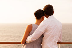 Croisière de couples de vue arrière Photographie stock